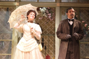 """Claire Brownell and Cody Nickell in """"The Importance of Being Earnest"""""""
