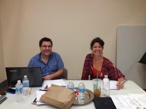 Michael Cassara and Kristen Coury at auditions during the 2012-2013 season
