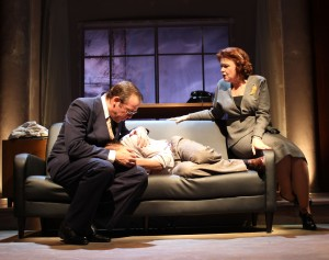 "Ian Merrill Peakes, Shawn Fagan, and Charlotte Booker in Gulfshore Playhouse's production of ""Something Intangible""."