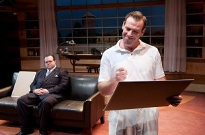 Scott Greer and Ian Merrill Peakes in the Arden Theatre's production of Something Intangible