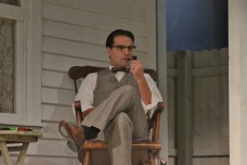 Cody Nickell in rehearsal of All My Sons