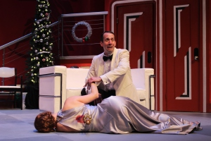 Claire Brownell and Jeffrey Binder in Ken Ludwig's THE GAME'S AFOOT