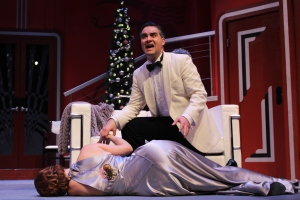 Claire Brownell and Cody Nickell in Ken Ludwig's THE GAME'S AFOOT