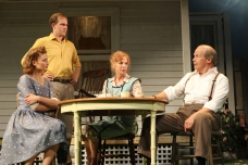 Claire Brownell,  Zac Hoogendyk, Amy Van Nostrand, and William Parry in Gulfshore Playhouse's production of All My Sons