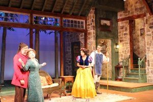 Kraig Swartz, Maureen Silliman, Amy Van Nostrand, and Shane Andries in VANYA AND SONIA AND MASHA AND SPIKE