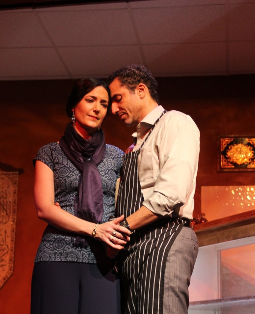 Ananda Bena-Weber and J Paul Nicholas in Gulfshore Playhouse's production of THE BUTCHER. Photographer: Pedro Zepeda.