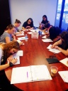 Participants during a STARwrights session
