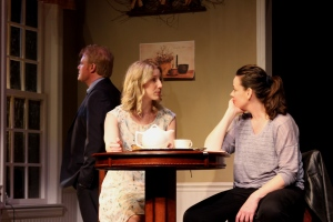 Mark Harapiak, Chiara Motley, and Danielle Skraastad in Gulfshore Playhouse's production of THE BUTCHER.