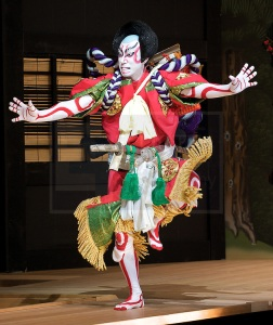 A traditional Kabuki theatre performer.